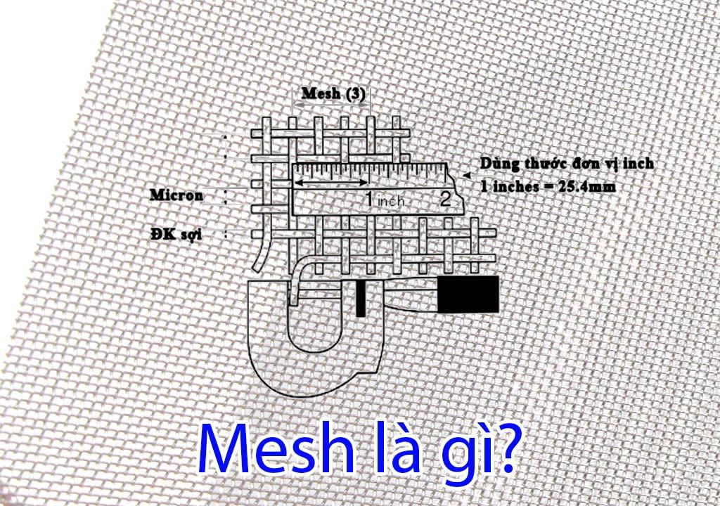 Cách chuyển đổi đơn vị mesh